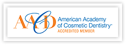 American Academy of Cosmetic Dentistry accredited member logo
