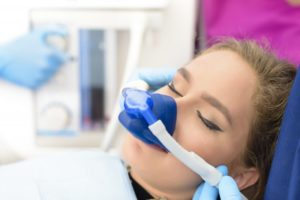 woman relaxed nitrous oxide sedation